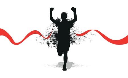 acabamento: homem correndo respingo