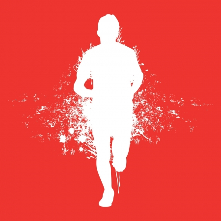 athlete running: running splash man