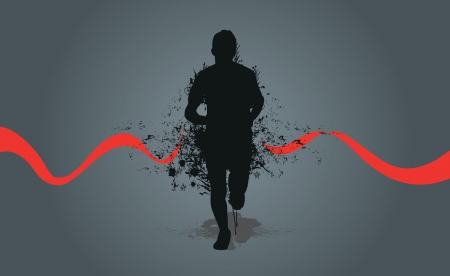 running splash man Vector