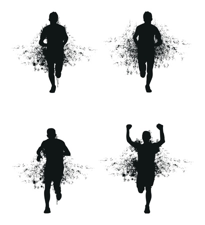running splash man Stock Vector - 15924641