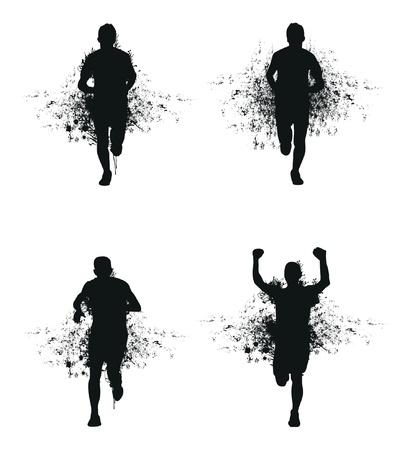 runners: running splash man