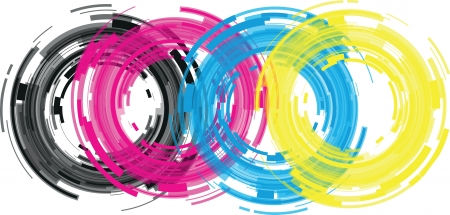 abstract camera lens Vector