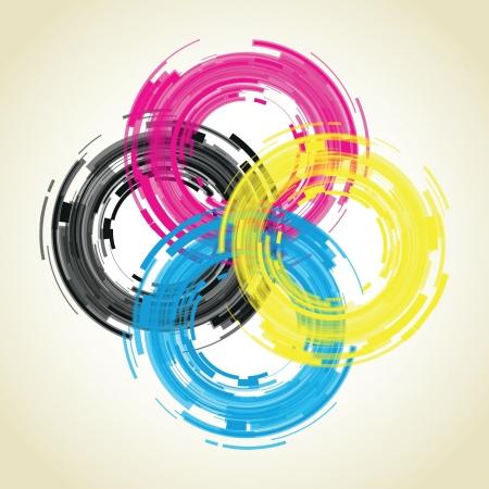 abstract lens van de camera Vector Illustratie