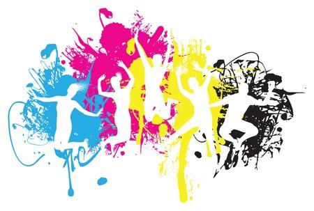 disco girls: jumper background Illustration