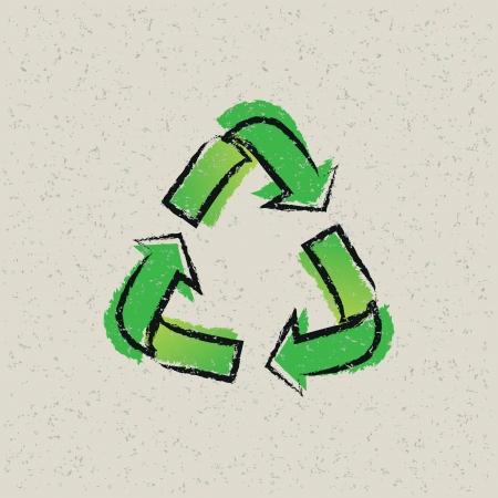 residuos organicos: reciclaje de fondo Vectores