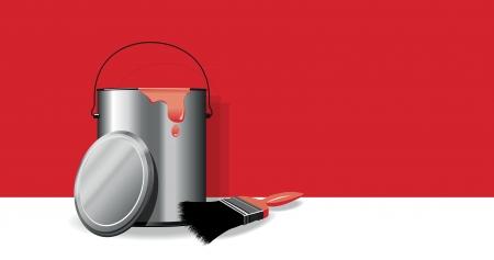 cans: paint pot background