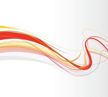 wervelende abstracte rode lijnen Stock Illustratie