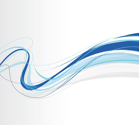 swirling: swirling abstract blue lines Illustration