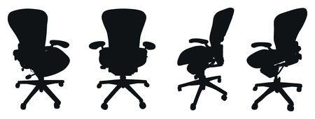 set of chair silhouettes Vector