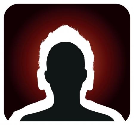 profile picture: double head profile silhouette