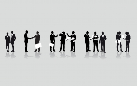 a line of business people  Vector