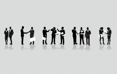 mensuration: une ligne de gens d'affaires