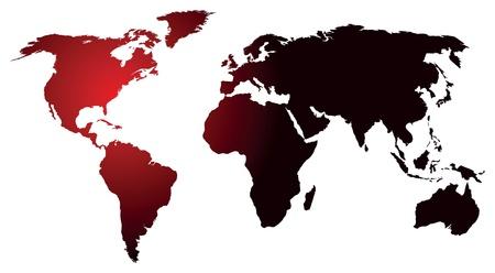 oceanic: world map glowing Illustration