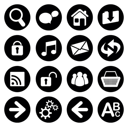 set of web icons Stock Vector - 17230056