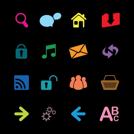 set of web icons Stock Vector - 17230050