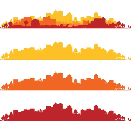 set of cityscapes Stock Vector - 17335707