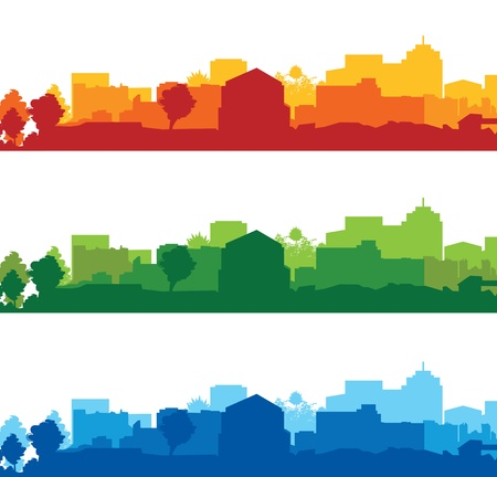 set of cityscapes Stock Vector - 17335714