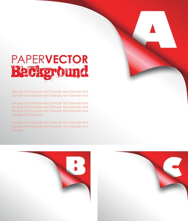 abc red paper fold Vector