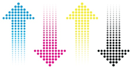 cmyk flèche fond Illustration