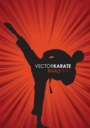 martial art: karate silhouette background
