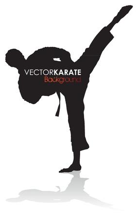 martial: karate silhouette