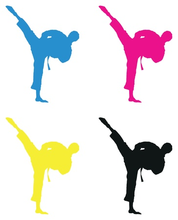 karate silhouette Stock Vector - 17544889