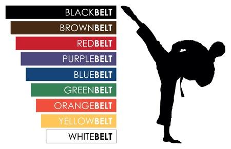 black belt: karate belts