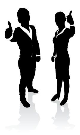 smart man: business people thumbs up Illustration