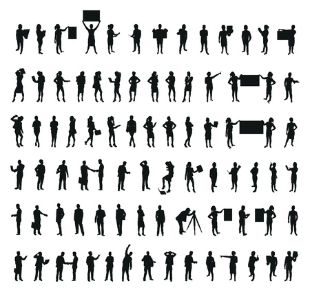 mensen bedrijfszetels Stock Illustratie