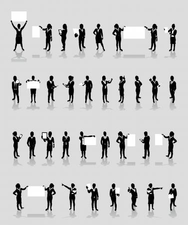 business people set Illustration