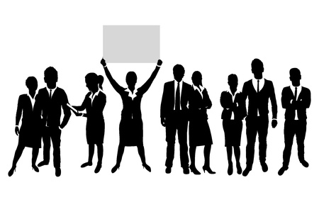 business people silhouette Stock Vector - 18682786