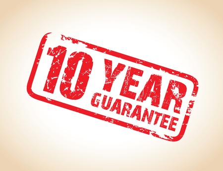 ten year guarantee stamp Vector