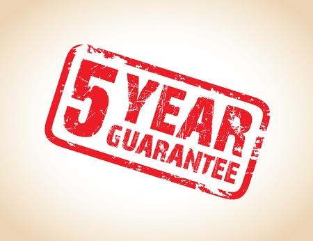 five year guarantee stamp Stock Vector - 18989068