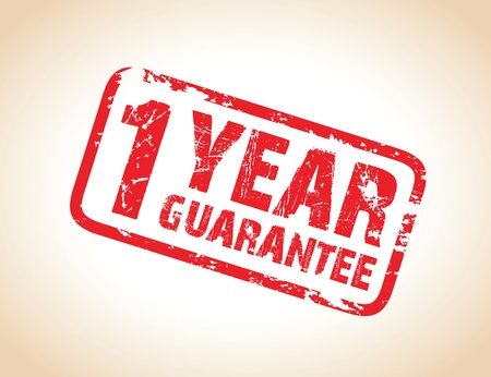 one year guarantee stamp Vector