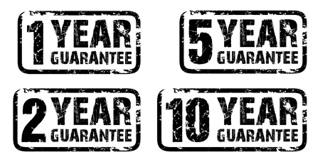 set of guarantee stamps Vector