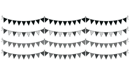 a set of four lines of bunting Stock Vector - 18989065
