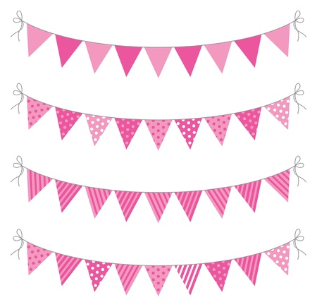 a set of four lines of bunting Stock Vector - 18989061