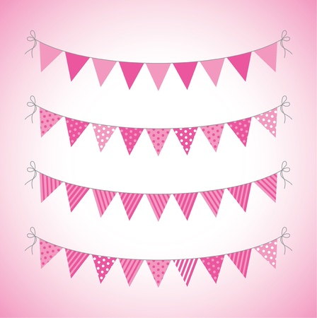a set of four lines of bunting Stock Vector - 18989060