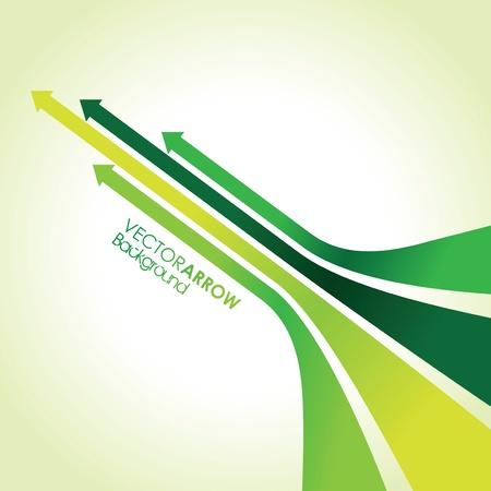 bandes abstraites de flèches vertes