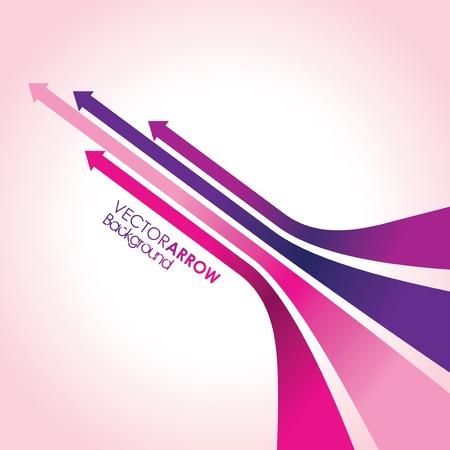 dark purple: abstract pink arrow strips Illustration