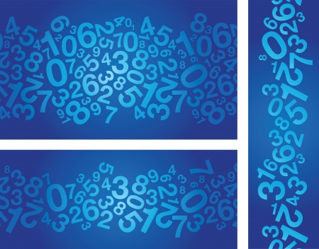 mesh texture: abstract blue number background