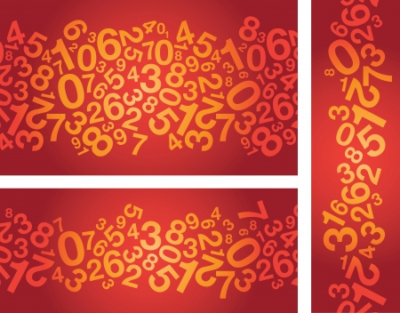 random: abstract red number background