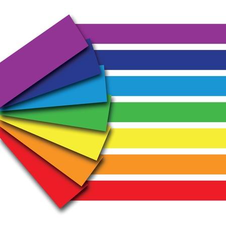 saturation: rainbow colour book background Illustration