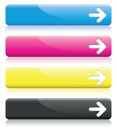 blue buttons: arrow line banners