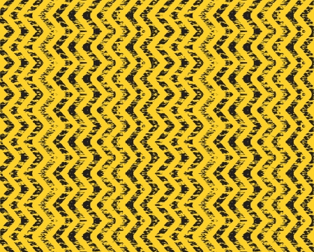 antique car: a construction arrow background in yellow and black