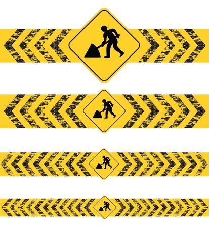 Bau einer Website schwarzen und gelben Banner