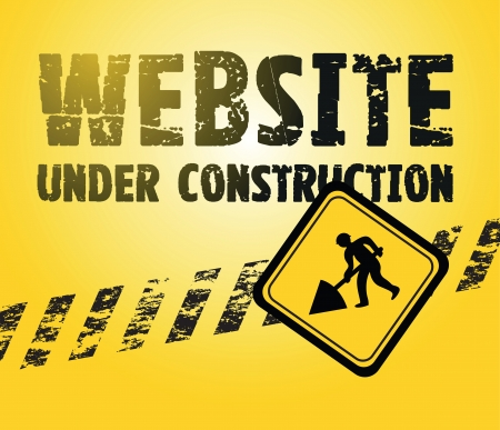 constructing a website black and yellow background Vector