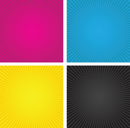 a set of three cmyk spiral boxes Stock Vector - 20338902