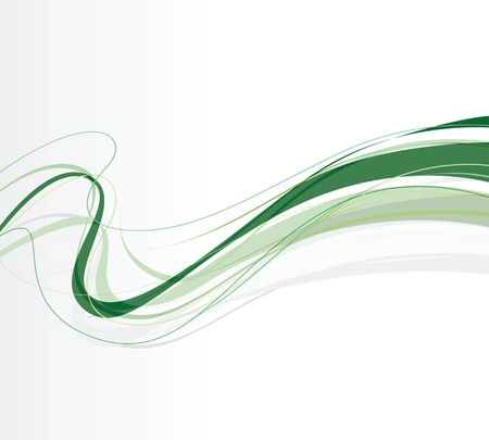 abstract green swirling lines