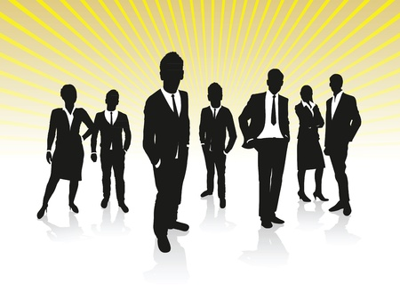 company profile: business people background Illustration